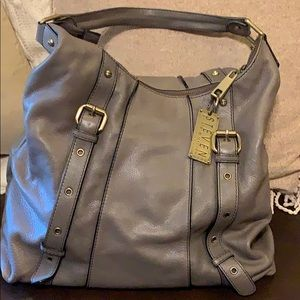 Steve by Steve Madden grey leather shoulder bag
